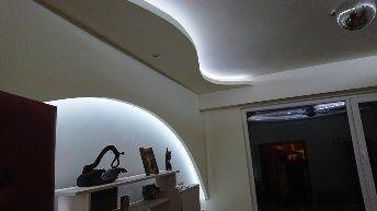 Ремонт окачени тавани скрито осветление фигури гипсокартон