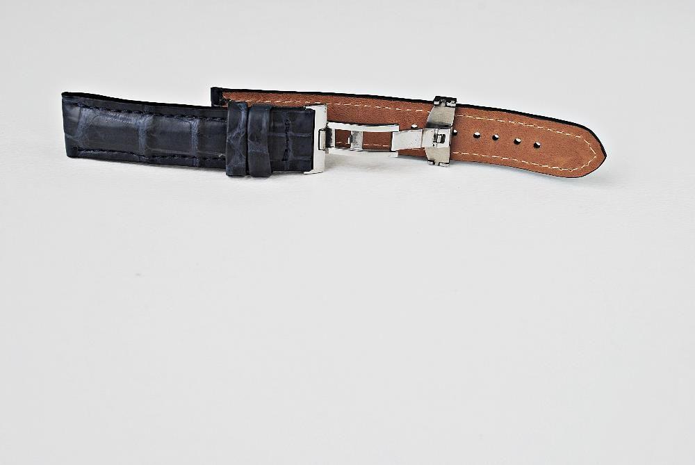 18mm Curea de ceas aligator pentru Omega, Breitling, Seiko- IN STOC!