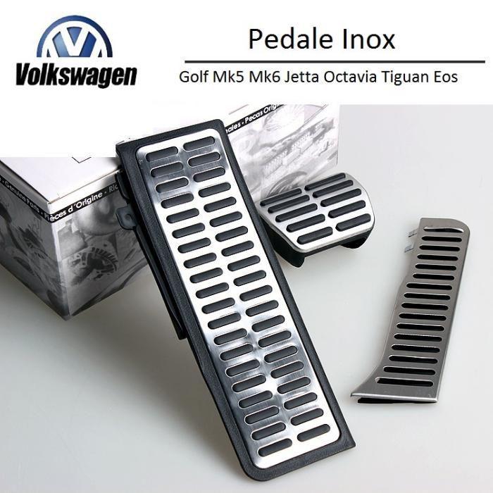 Set Pedale Inox AUTO/DSG pentru VW Golf/Jetta/Tiguan/Passat 200lei