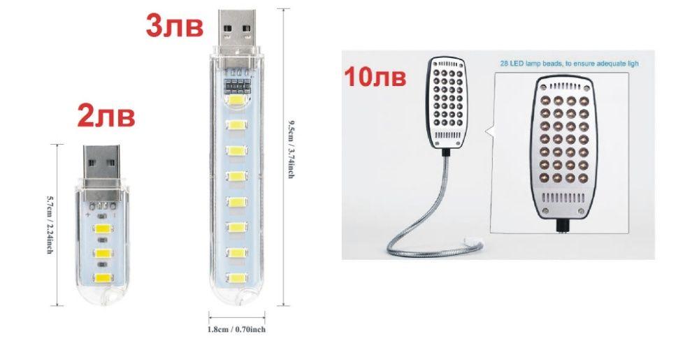 USB LED лампи