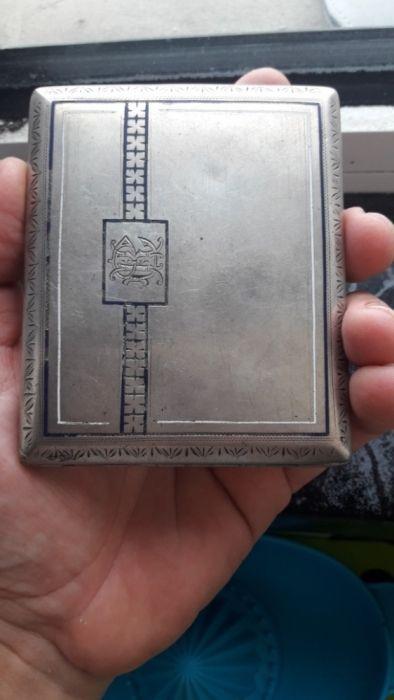 Tabachera argint 950 personalizata in 1924 ca si amintire