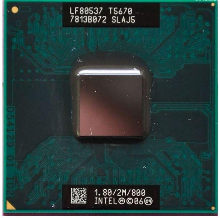 Procesor laptop Socket P Intel Dual Core 2 Duo T5670 T7100 T7300 T7500