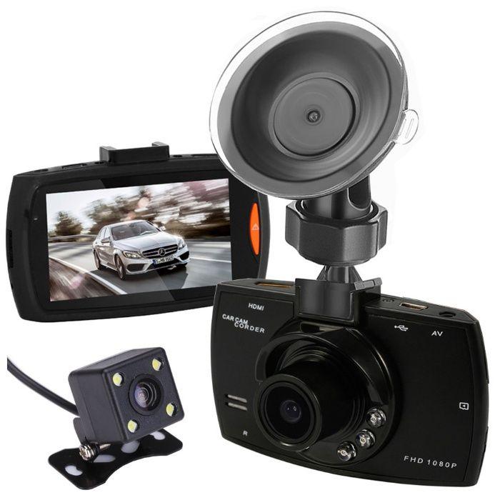 DVR Auto G30 1080P cu camera dubla cu vedere spate+Card 16GB