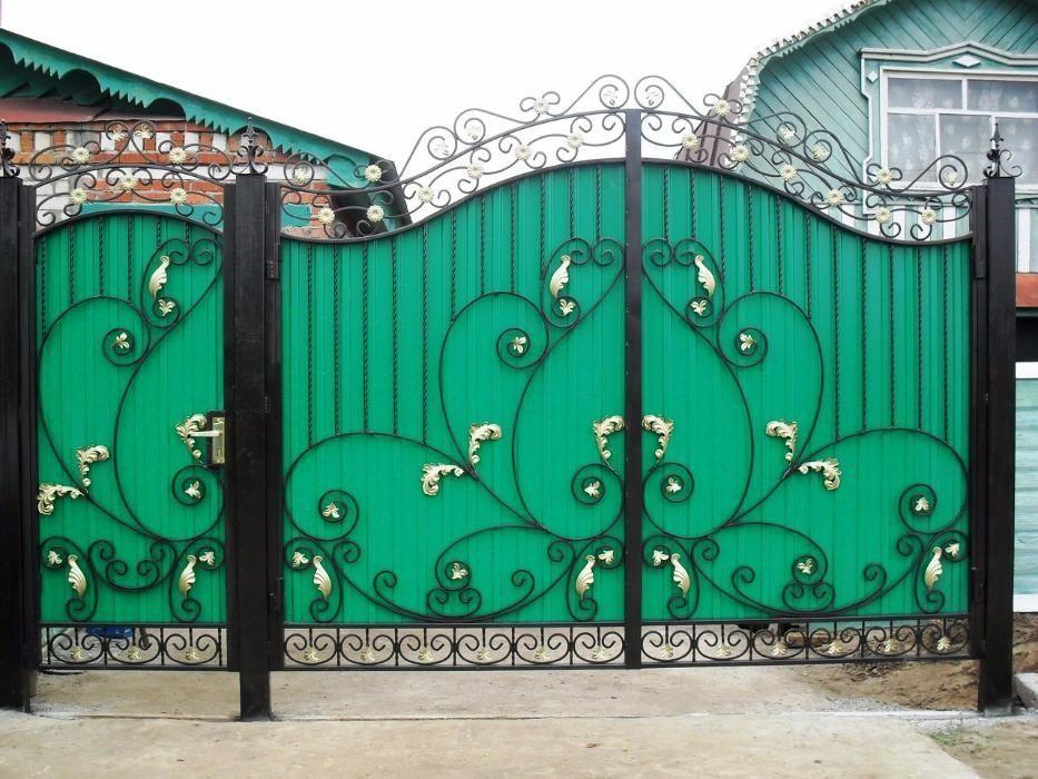 Изготовим ворота с калиткой, заборы, навесы и т.д.