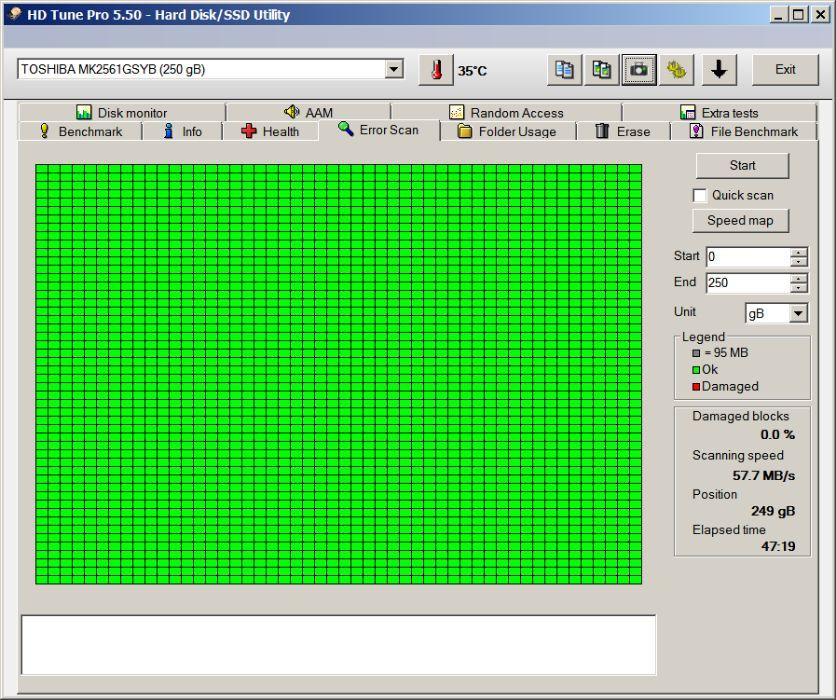 HDD 250GB laptop