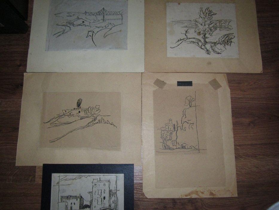 raritate desene vechi arhitect HORIA TEODORU 1894-1976