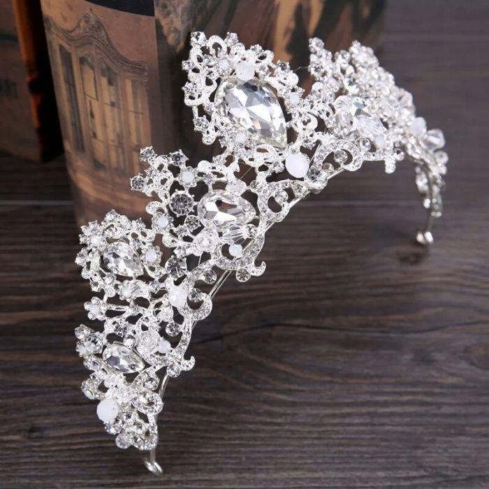 Diadema,tiara cu cristale+cadou cercei