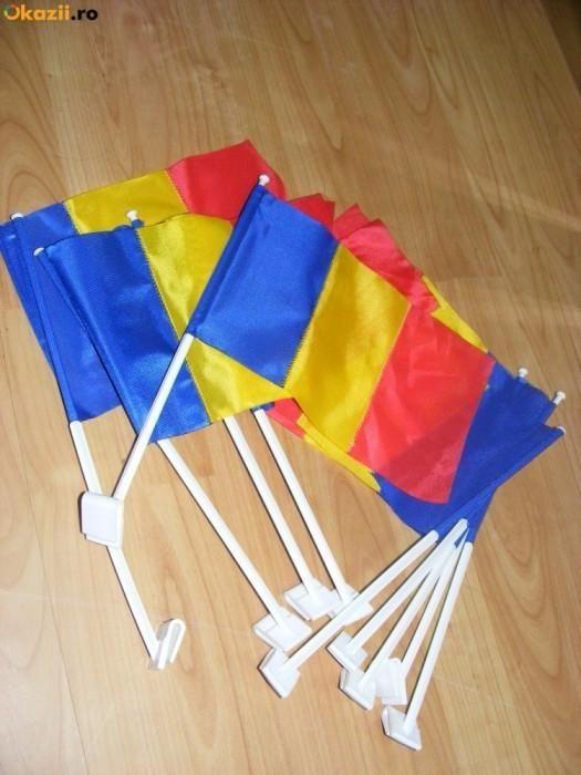 Steag auto tricolor 40 cm x 30 cm AUTO / Drapel 40/30