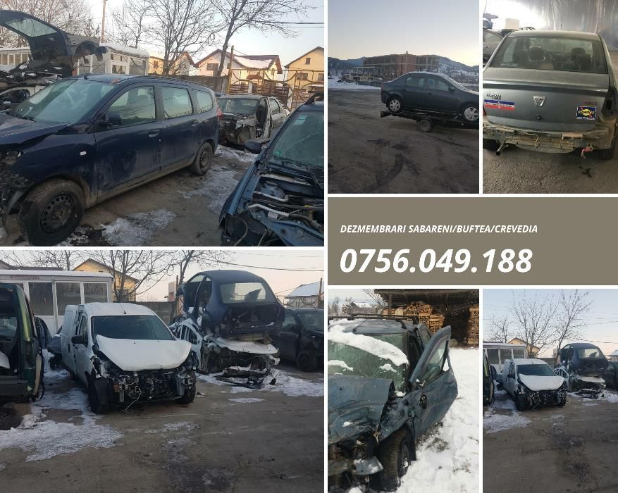 dezmembrari Dacia Logan/Dokker/Lodgy/Sandero-Sabareni/Buftea/Crevedia