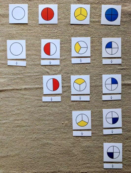 Монтесори елементи с деления 1, 1/2, 1/3 и 1/4 + карти и поставка гр. Бургас - image 4