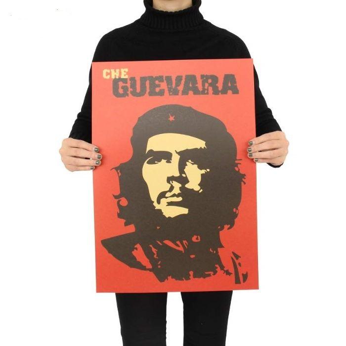 Poster vintage Che Guevara hartie kraft dimensiune 51 x 35.5 cm