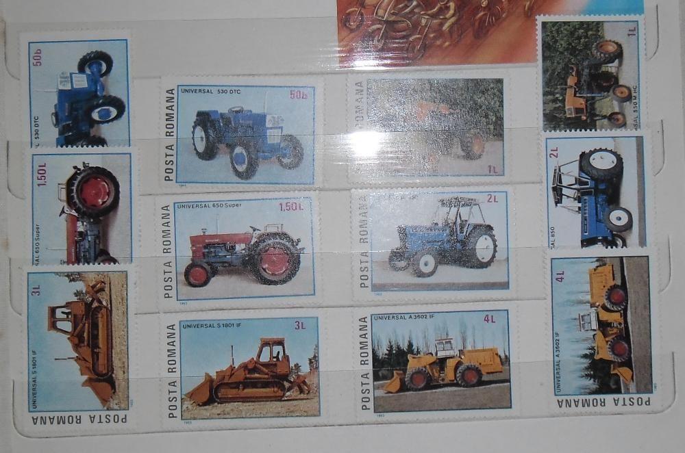 """Vând 2 serii timbre """"Tractoare românești"""" - 1985"""