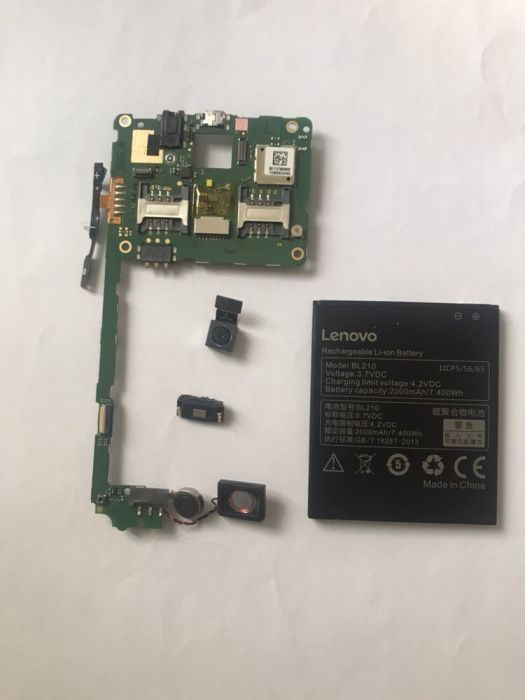 Placa de baza pcb Lenovo A536, camera sonerie