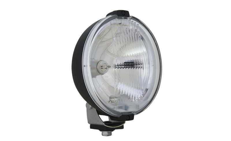 Proiector auto rotund cu bec halogen si inel LED - Proiectoare auto