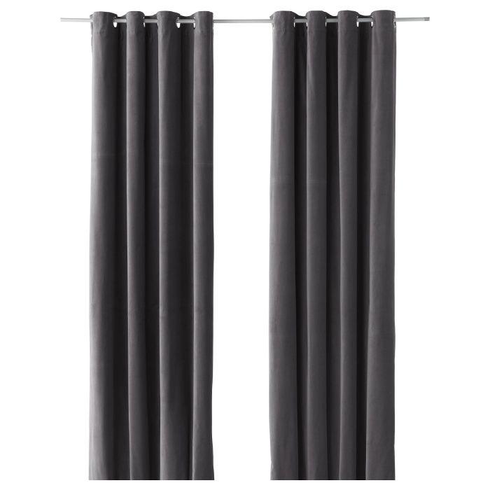Perdele 2 bucati 140 x 300 cm IKEA - SANELA gri - noi