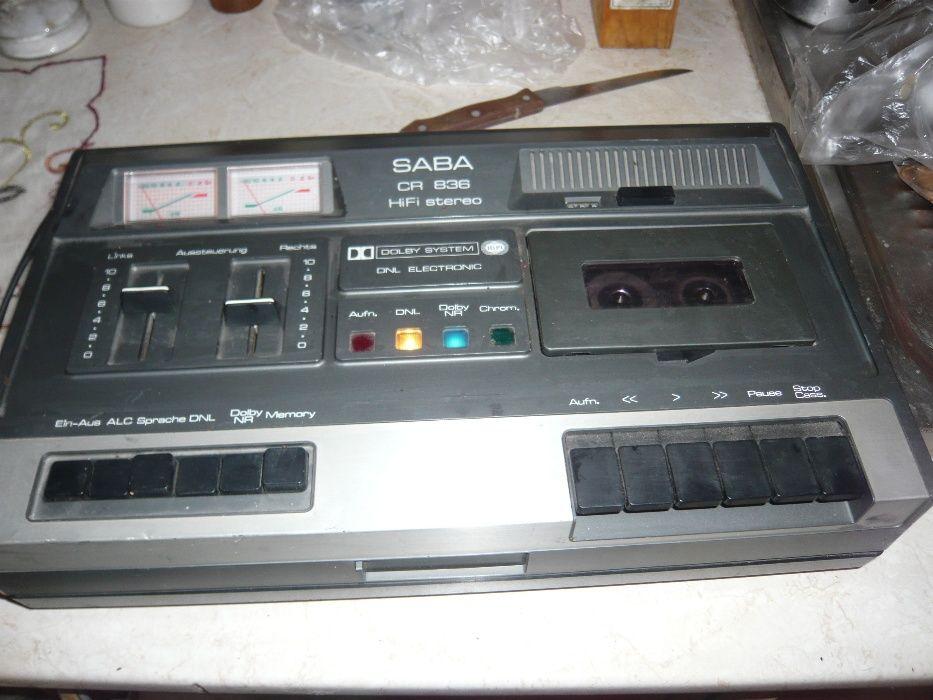 Casetofon deck stereo de colectie HiFi Saba CR 836 Germania 1976