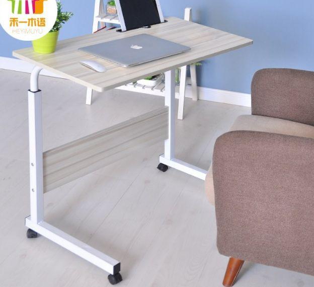 Masuta masa mini birou Leptop cu Inaltime ajustabila /roti Blat lemn