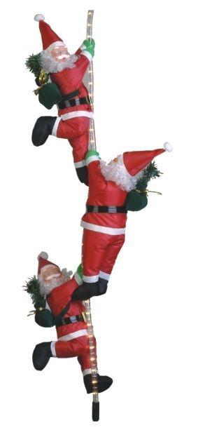 Коледна украса-Дядо Коледа На въже Светещо