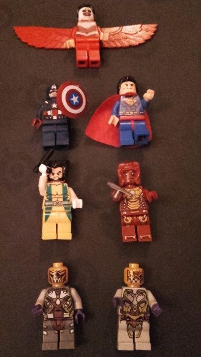 Set figurine tip Lego Super Heroes Superman Wolverine Cpt. America etc