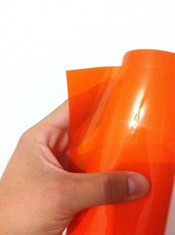 Folie faruri si proiectoare - portocaliu ORACAL 50cm x 50cm