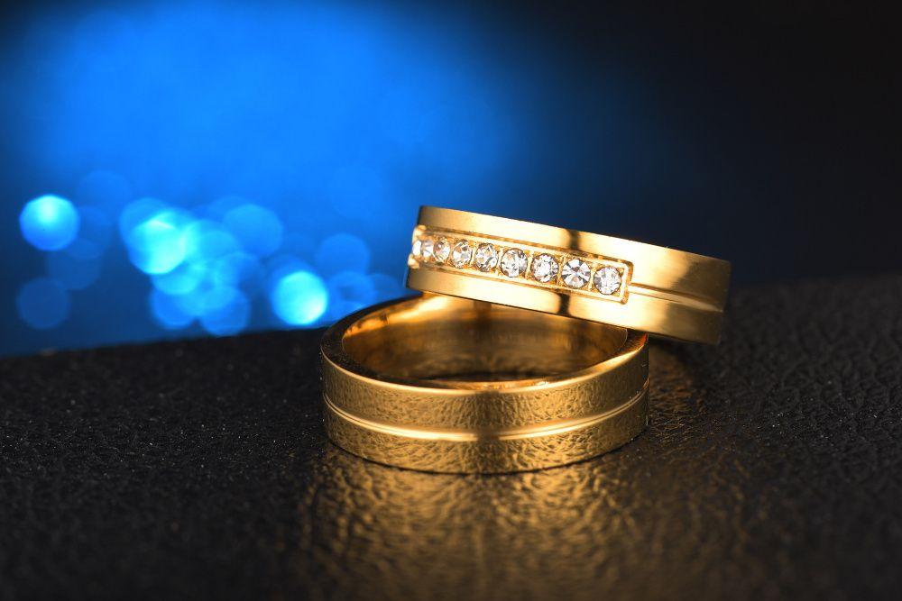 Verighete placate cu aur 18k