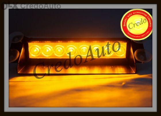 LED Жълт Авариен сигнален блиц за табло!