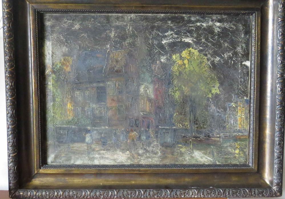 Pictura ulei pe panza semnata Rudolph Weber, pictor austriac