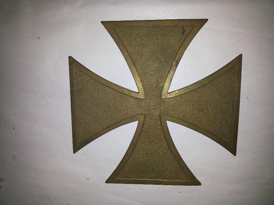 Cruce de fier,veche,germana,blazon,din bronz ,masiv