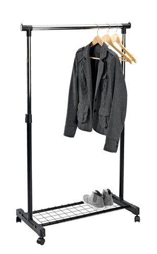 Щендер/закачалка за дрехи с регулируема височина и рафт за обувки