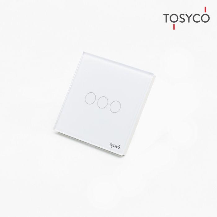Tosyco.ro Intrerupator triplu wireless cu touch din sticla