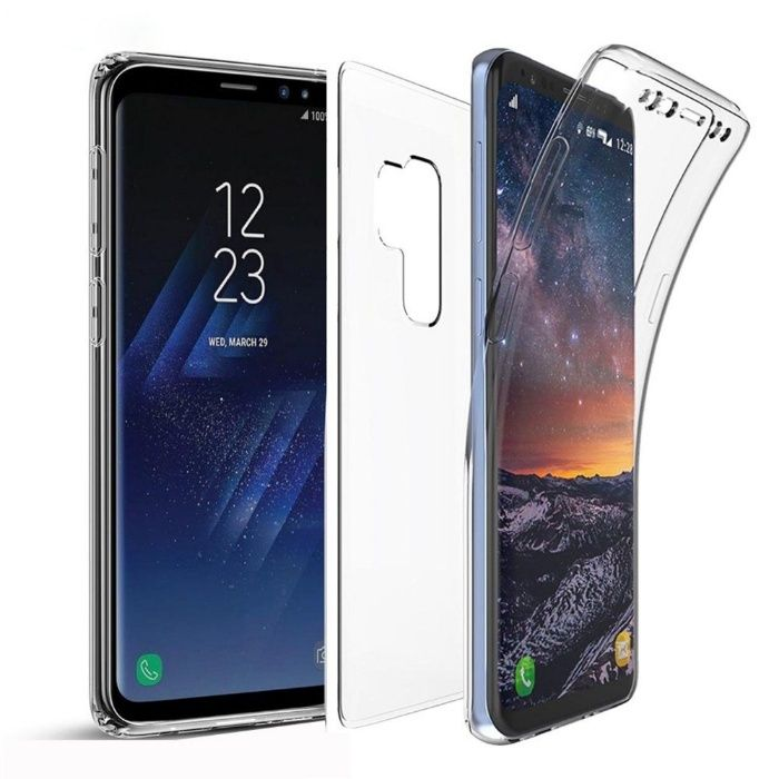 Samsung S9 S9 Plus - Husa 360 Transparenta Fata Silicon Spate Plastic