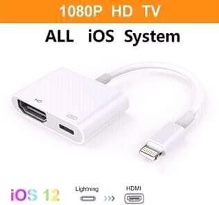 Cabo para conectar iPhones/iPad a TVs e monitores.