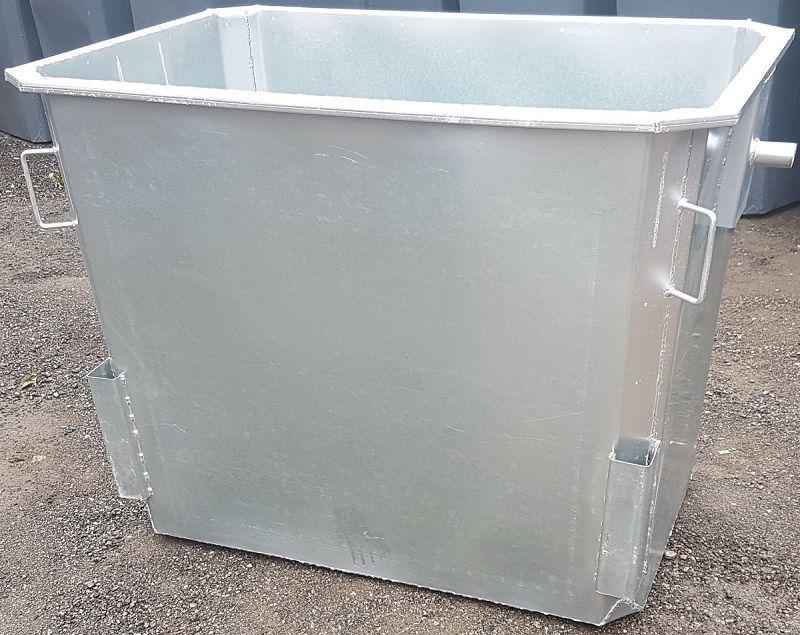 Оцинкованный нержавеющий контейнер для мусора (НДС 12% в т.ч.)
