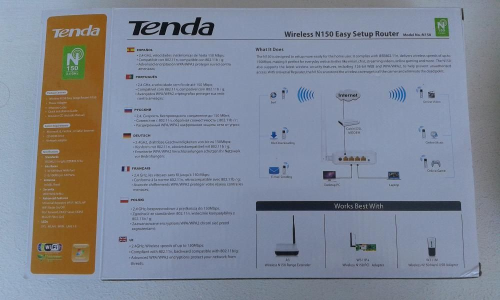 Vand un Router wireless tenda n150 easy setup
