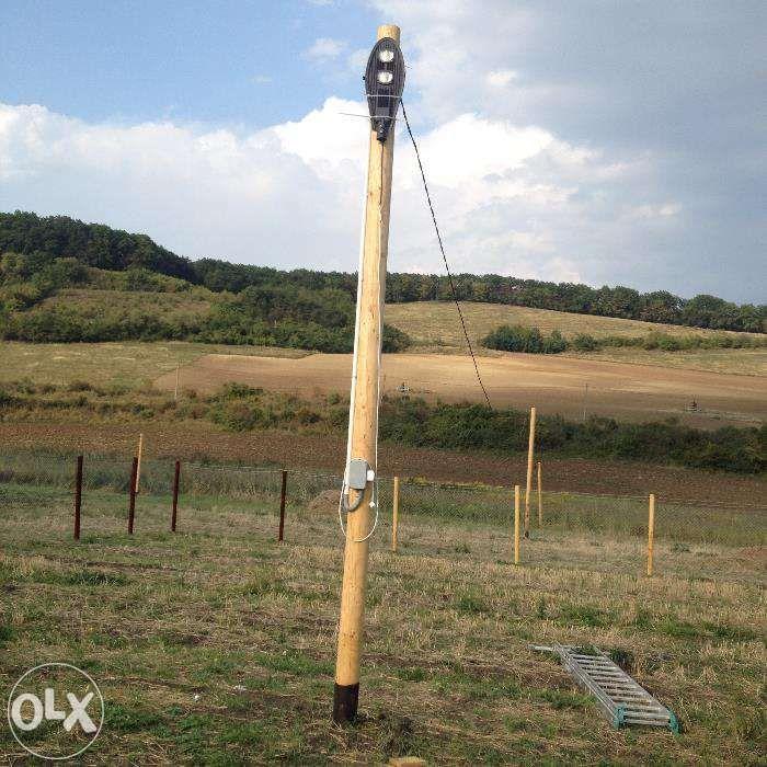 Stalpi pentru fibra optica sau retele electrice usoare