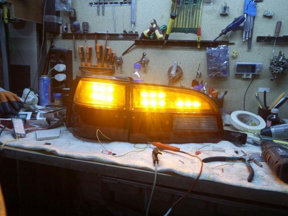 Задние диодные фонари на Делику булку
