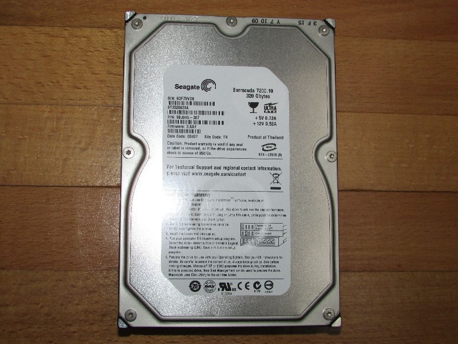 Vand HDD Seagate Barracuda 320GB 7200RPM IDE, model ST3320620A, ca NOU