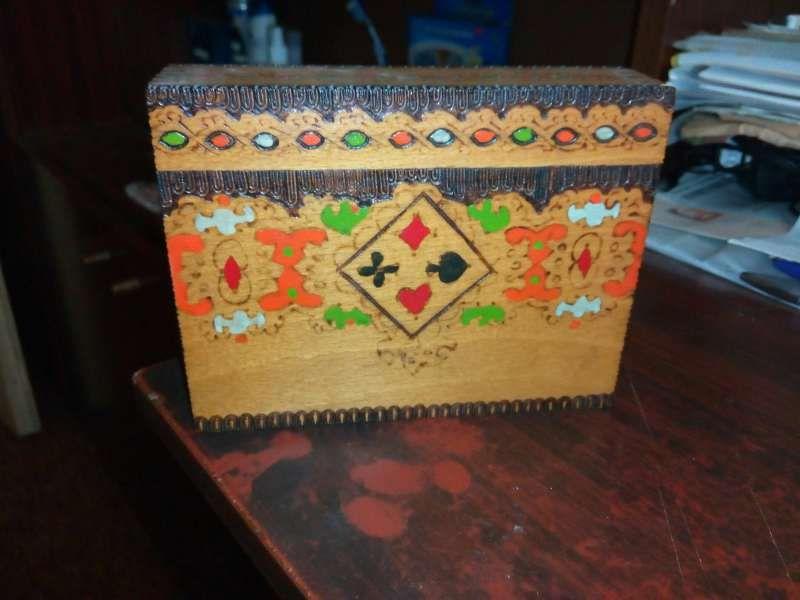 Кутия за карти - ръчна изработка