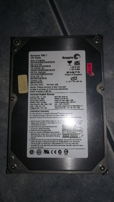 Hdd Seagate 120Gb