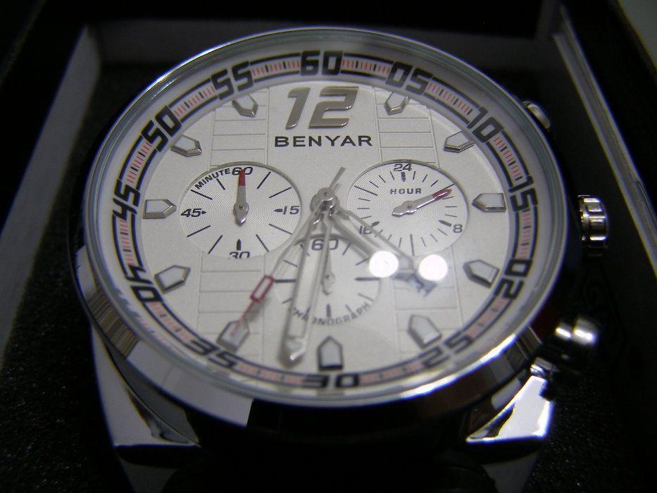 ceas de mana barbatesc sport quartz cronograf Benyar nou