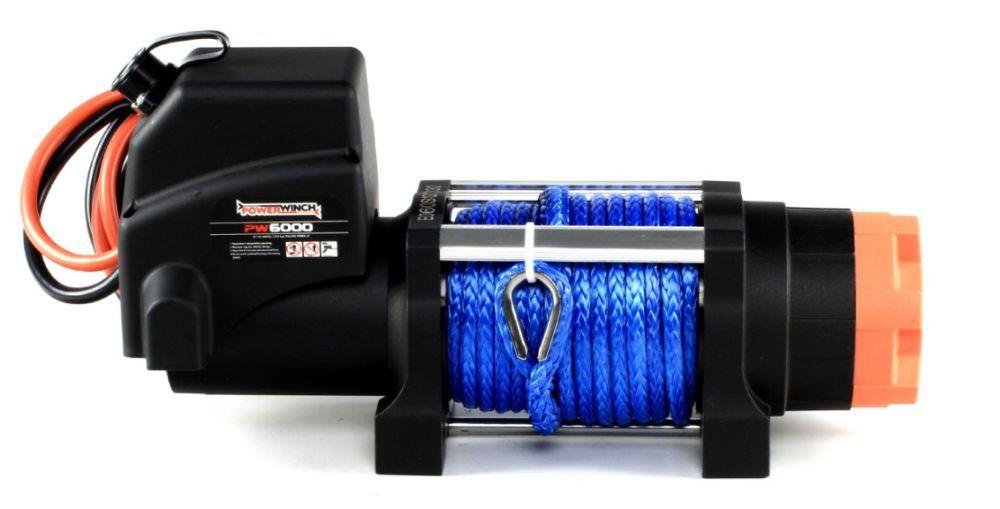 Troliu PW 6000 lb-SR cu cablu sintetic - 2722 kg NOU