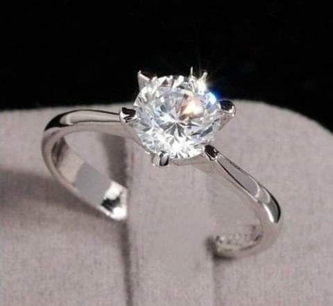 Avenda anéis de noivado de prata
