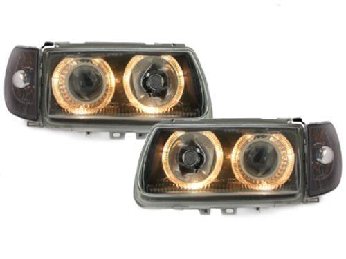 Faruri VW Polo 6N 95-98 pozitie angeleyes negru DEPO