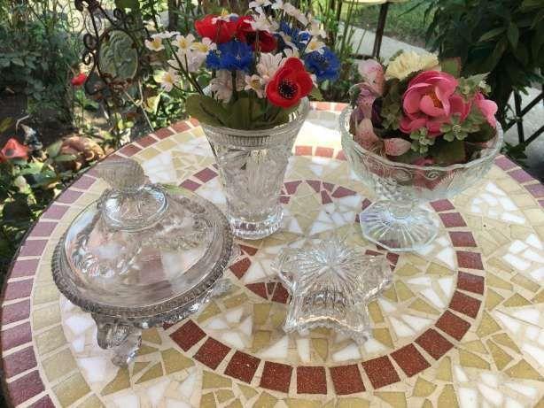 Lot obiecte sticla cristalizata,deosebite,stare perfecta
