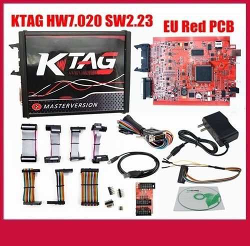 Interfata auto programator memorii KTAG SW2.23 HW 7.020 - Placa rosie