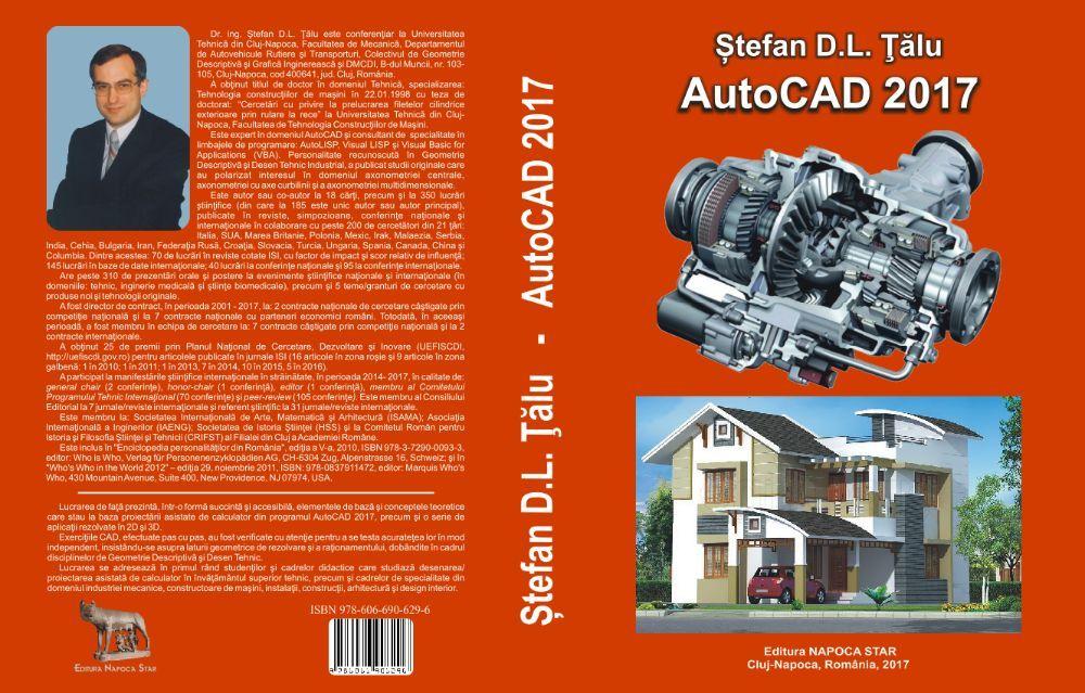 """Vand cea mai buna carte de AutoCAD din România, cartea """"AutoCAD 2017"""""""