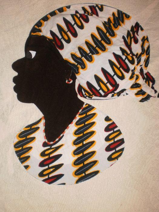 Африканка-картина от текстил върху текстил-варианти гр. София - image 2