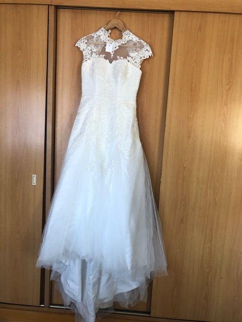 Vendo Vestido Noiva Sereia Renda e Tule NOVO Modelo Exclusivo Portugal