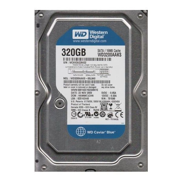 hard disk western digital 320gb sata