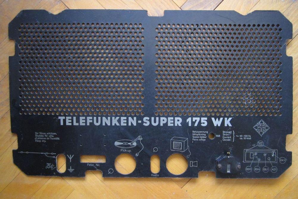 Капак за Telefunken Super 175 WK
